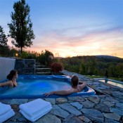 Alford – sunset in the hot tub