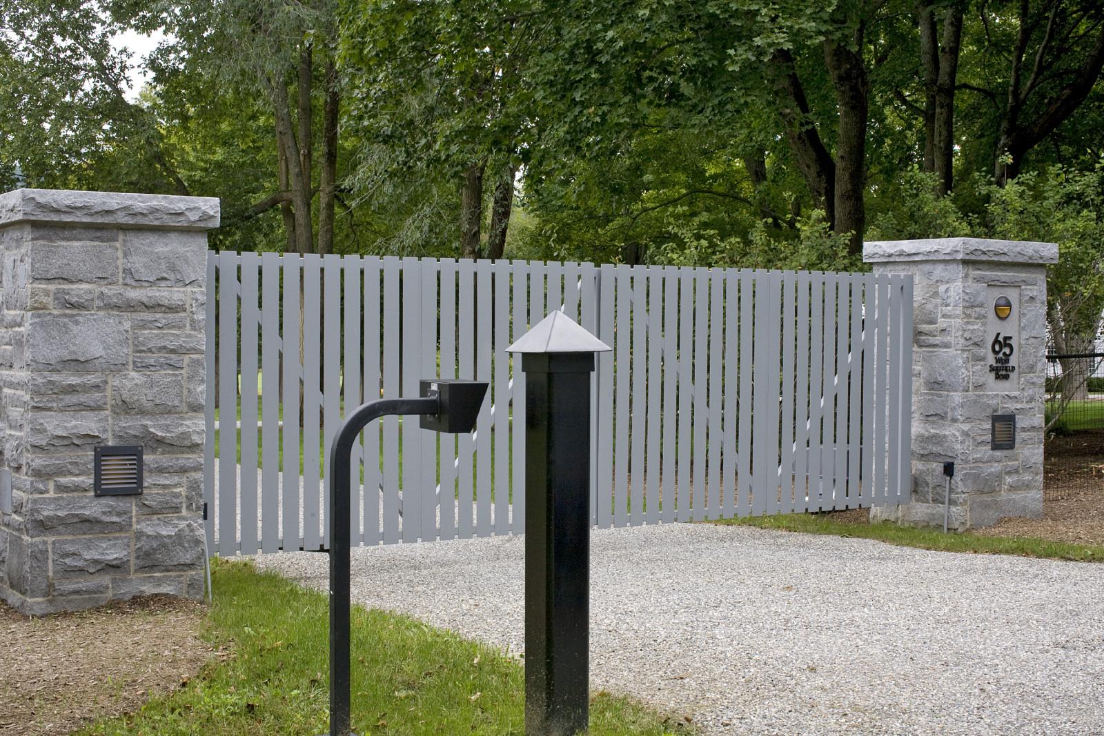 South  Berkshires – Modern entry estate gate